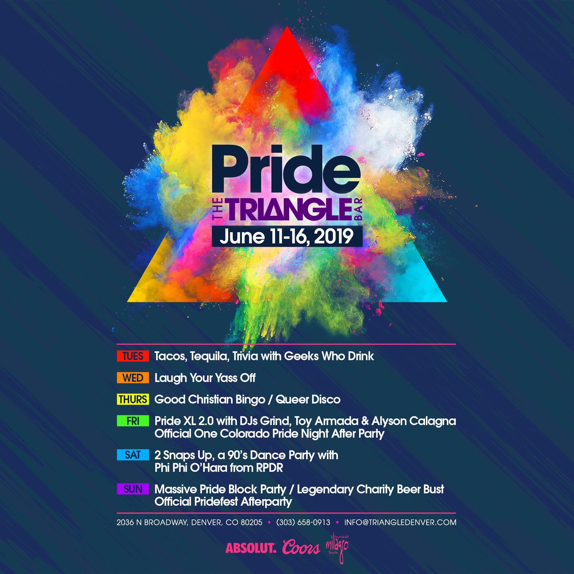 The Triangle Bar Pride 2019 Lineup + Exclusive VIP Promo